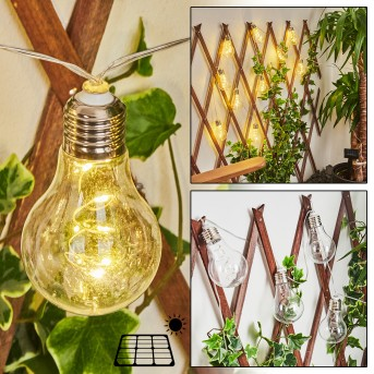 guirlande lumineuse solaire Markhus LED Transparent, 10 lumières