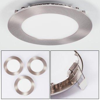Spot encastrable Finsrud LED Nickel mat, 1 lumière