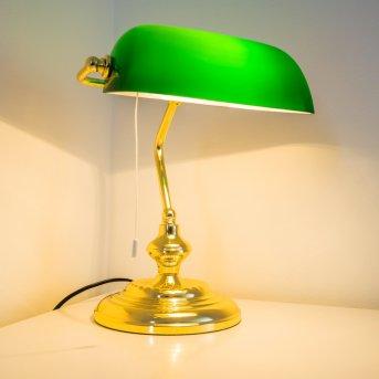 Lampe de banquier Laiton, 1 lumière