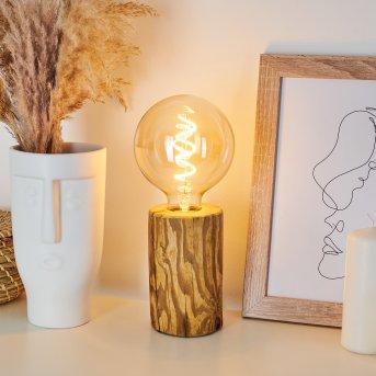 Lampe de table Canedo Noir, Écru, 1 lumière