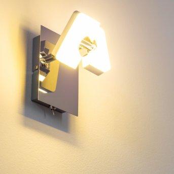 Spot mural Turin LED Chrome, 1 lumière