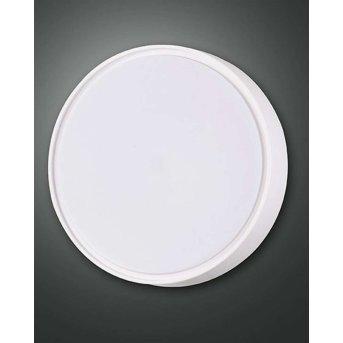 Plafonnier d'extérieur Fabas Luce HATTON LED Blanc, Détecteur de mouvement