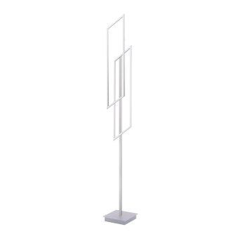 Lampadaire Paul Neuhaus INIGO LED Acier inoxydable, 2 lumières, Télécommandes