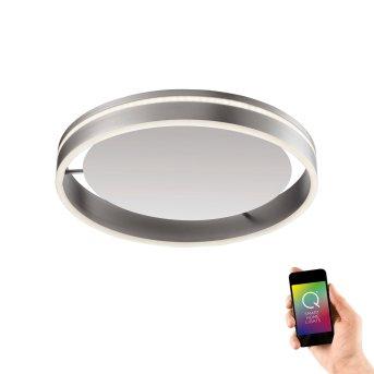 Plafonnier Paul Neuhaus Q-VITO LED Acier inoxydable, 1 lumière, Télécommandes