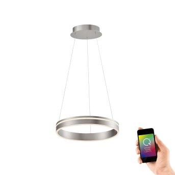 Suspension Paul Neuhaus Q-VITO LED Acier inoxydable, 1 lumière, Télécommandes