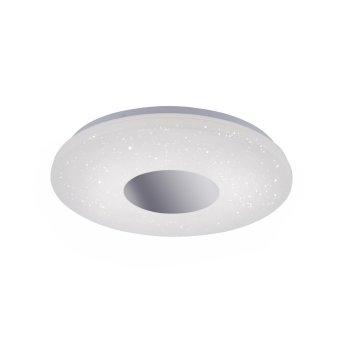 Plafonnier Leuchten Direkt LAVINIA LED Chrome, 1 lumière, Détecteur de mouvement