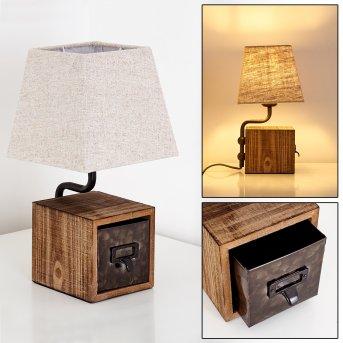 Lampe à poser Banister Rouille, Brun, 1 lumière