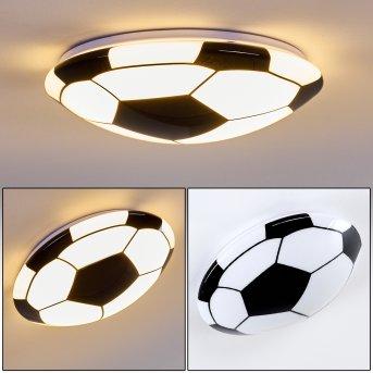 Plafonnier Sakka LED Noir, Blanc, 1 lumière