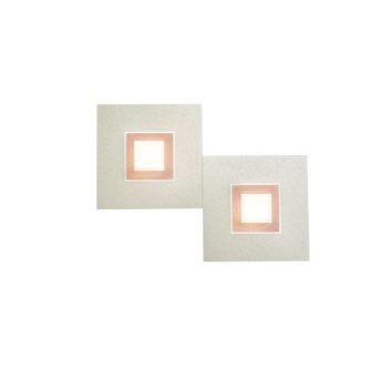 Applique murale Grossmann Karree LED Cuivre, 2 lumières