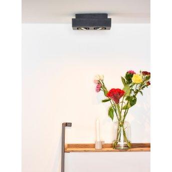 Spot de plafond Lucide XIRAX LED Noir, 2 lumières