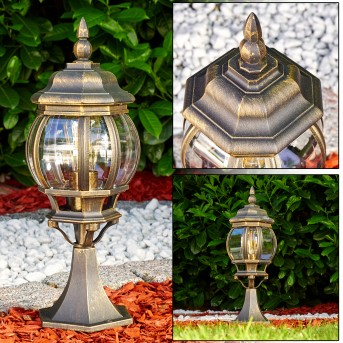 Borne lumineuse Lentua Brun doré, 1 lumière