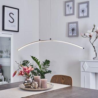 Suspension Vidsel LED Acier brossé, 1 lumière