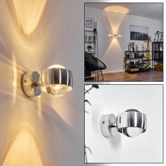 Applique Sapri Argenté, 1 lumière