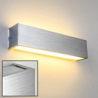 Applique murale LED Olbia Aluminium, 1 lumière