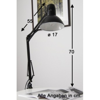 Lampe à pince Brilliant Hobby Noir, 1 lumière