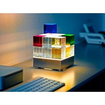 Cubelight Tecnolumen Lampe à poser LED Clair, Multicolore, 1 lumière