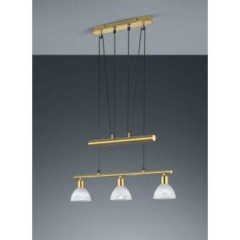 Suspension Trio LEVISTO LED Laiton, 3 lumières