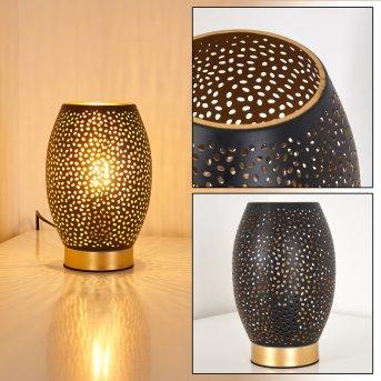 Lampe à poser Saksborg Noir doré, 1 lumière
