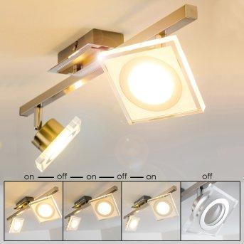 Plafonnier Kolari LED Nickel mat, Chrome, 2 lumières