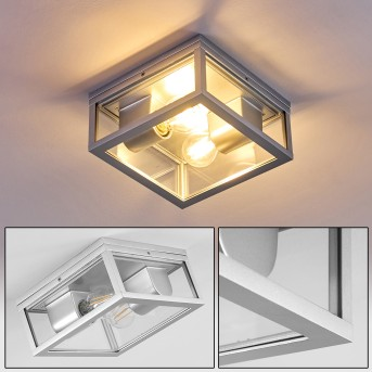 plafonnier extérieur Kiwalik Argenté, 2 lumières