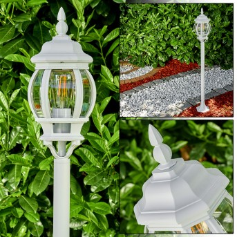 Lampadaire extérieur Lentua Blanc, 1 lumière
