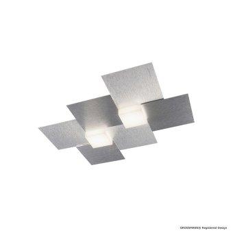 Applique murale / Plafonnier Grossmann CREO LED Aluminium, 2 lumières
