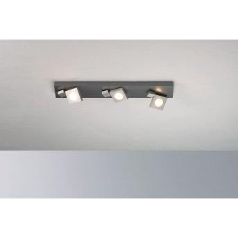 Plafonnier Bopp Flash LED Aluminium, 3 lumières