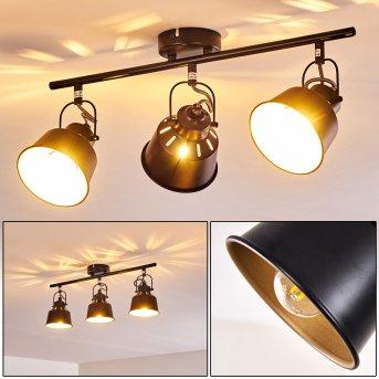 Plafonnier Safari Noir doré, 3 lumières