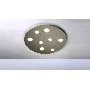 Plafonnier Bopp GRAFICO LED Beige, 8 lumières
