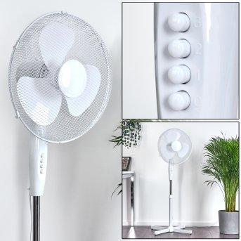 Ventilateur Sopot Chrome, Blanc