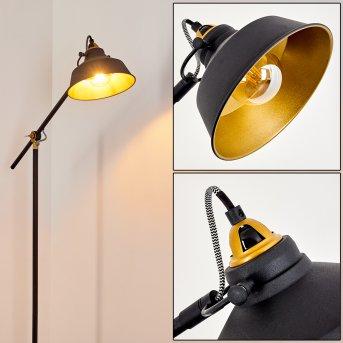 Lampadaire Luven Noir, Or, Noir doré, 1 lumière