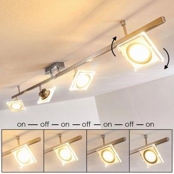 Plafonnier Kolari LED Nickel mat, Chrome, 4 lumières