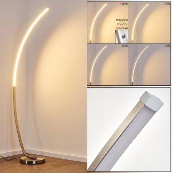 Lampadaire Antares LED Nickel mat, 1 lumière