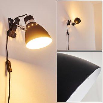 Lampe à pince Stranderott Chrome, Noir, 1 lumière