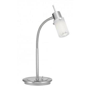 Lampe à poser Leuchten Direkt MAX LED Acier inoxydable, 1 lumière