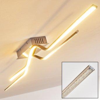 Plafonnier Jamjo LED Nickel mat, 1 lumière