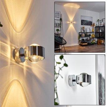 Applique murale Hofstein Sapri Chrome, 1 lumière