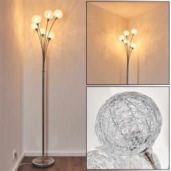 Lampadaire Paul Neuhaus WOMBLE Acier inoxydable, 6 lumières