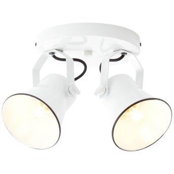 Plafonnier à spots Brilliant Croft Blanc, 2 lumières