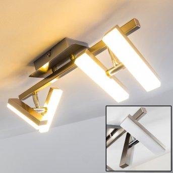 Plafonnier Sakami LED Nickel mat, 4 lumières