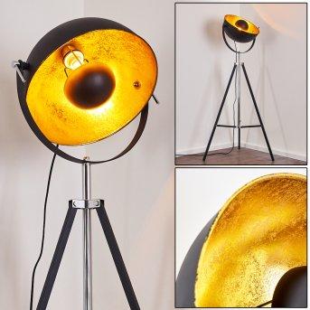 Lampadaire Jupiter Noir doré, 1 lumière