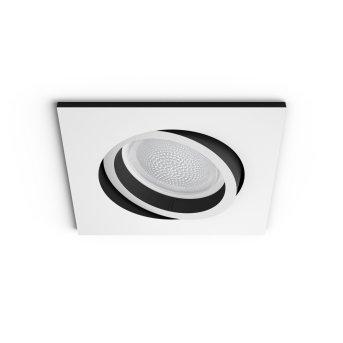 Spot encastrable, kit d'extension  Philips Hue Ambiance White & Color Centura Blanc, 1 lumière, Changeur de couleurs