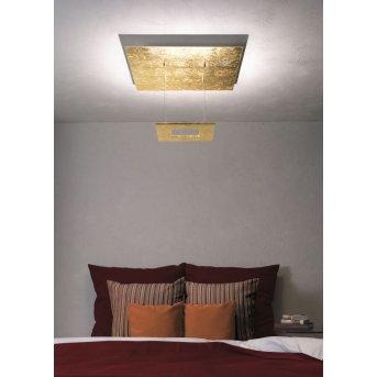 Plafonnier Escale ZEN D2W LED Or, 4 lumières