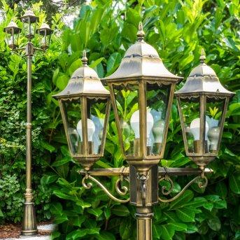 Réverbère Hong Kong bronze Transparent, 3 lumières