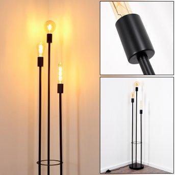 Lampadaire Maidford Noir, 3 lumières