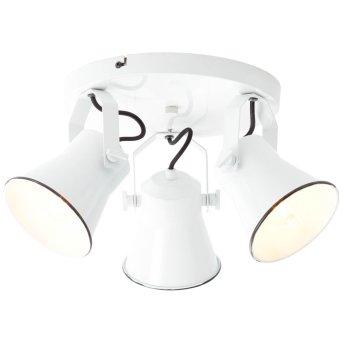 Plafonnier à spots Brilliant Croft Blanc, 3 lumières