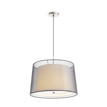 Lampe pendante Faro Saba Nickel mat, 3 lumières