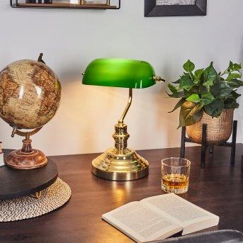 Lampe de banquier verte Laiton, Vert, Or, 1 lumière