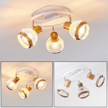 Plafonnier Bariloche Chrome, Blanc, 3 lumières