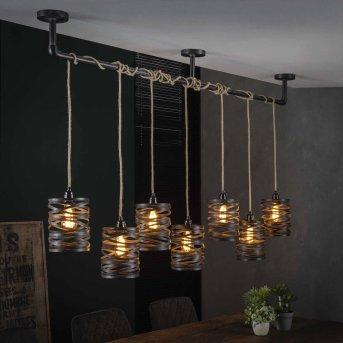 Suspension MARGETTE Noir, 7 lumières